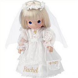 Personalized Blonde Precious Moments Communion Doll