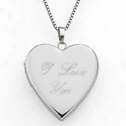 Sterling Silver I Love You Heart Locket