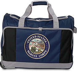 USMC Rolling Duffel Bag with Telescoping Handle
