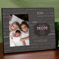 Personalized Best Mom Printed Frame