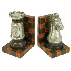 Rook and Knight Chess Piece Decorative Bookends