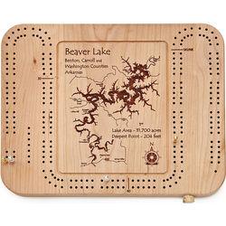 Custom Lake Art Cribbage Board