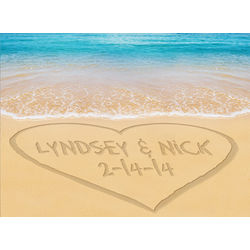 Personalized Heart Sand Print Canvas