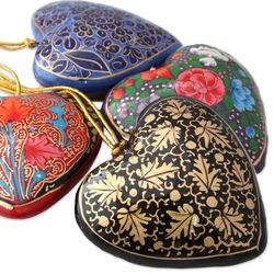 Season of Love Papier Mache Ornaments