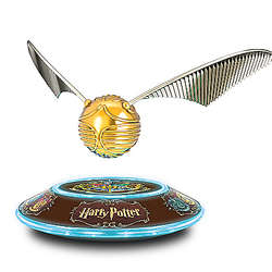 Harry Potter Levitating Golden Snitch Sculpture with Light Base