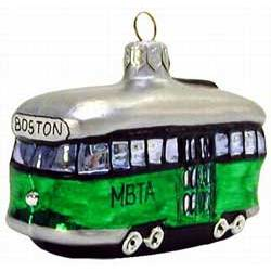 Boston Mbta Trolley Landmark Ornament