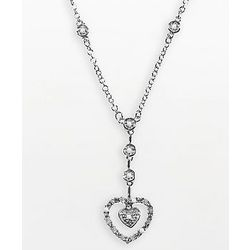 Sterling Silver .25 Ct. Diamond Heart Pendant