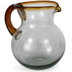 Amber Harmony Glass Pitcher