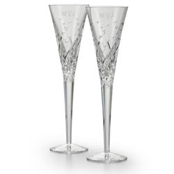 Waterford Engraved Celebrations Toasting Flutes