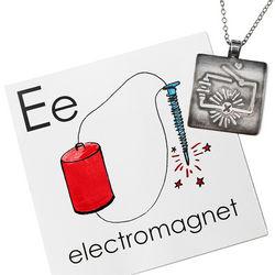 Electrical Connection Pendant Necklace