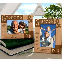 Personalized Grandpa & Me Wooden Picture Frame