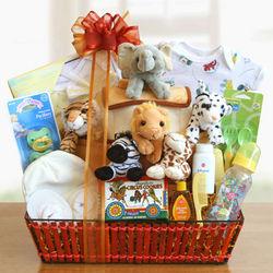 Noah's Ark Baby Basket