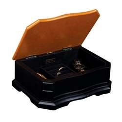 Harper Small Black and Cedar Jewelry Box