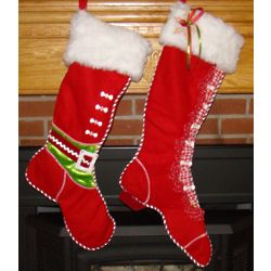 Mr. and Mrs. Claus Personalized Christmas Stockings