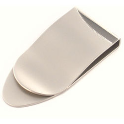 Personalized Matte Silver Arrowhead Shape Money Clip