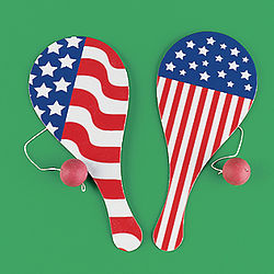 Stars and Stripes Paddleball Games