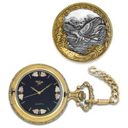 Flying Eagle Two-Tone Pocket Watch