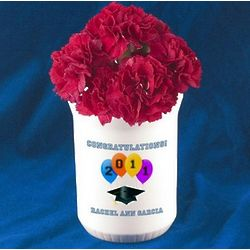 Congratulations Graduate Bud Flower Vase