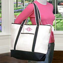 Personalized Canvas Weekender Tote Bag