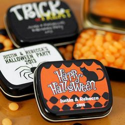 Halloween Personalized Candy Tin Favors