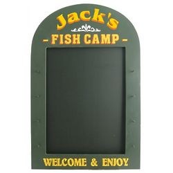 Personalized Fish Camp Sign and Chalkboard