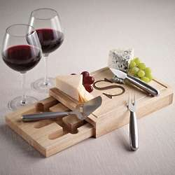 Personalized Wooden Cheese Board with Tools