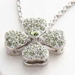 Clover Sterling Bridal Necklace