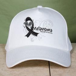 Melanoma Awareness Ribbon Hat