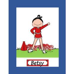 Personalized Cheerleader Cartoon