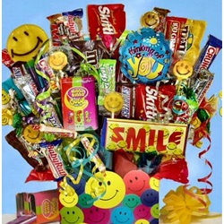 Grins & Happy Thoughts Candy Bouquet