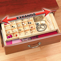 Expandable Ring and Earring Drawer Organizer