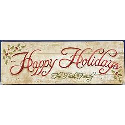 Personalized Holiday Canvas