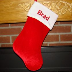 Personalized Embroidered Traditional Christmas Stocking