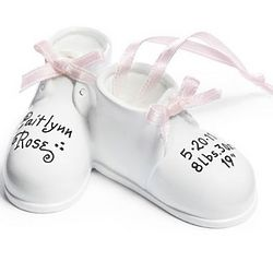 Personalized Baby Girl's Baby Shoes Ornament