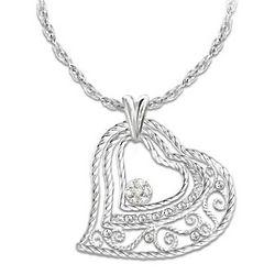 Heart-Shaped Love Grows Diamond Pendant