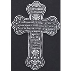 Pewter Baptismal Blessings Cross