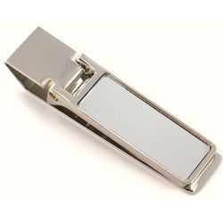 Personalized Thin Polished Silver Money Clip
