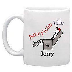 Personalized American Idle Mug