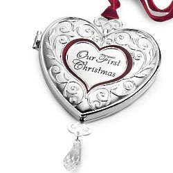 Our 1st Christmas Engravable Locket Christmas Ornament