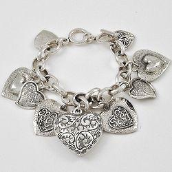 Heart-To-Heart Charm Bracelet