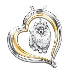 Loyal Companion Dog Lover Pomeranian Pendant Necklace