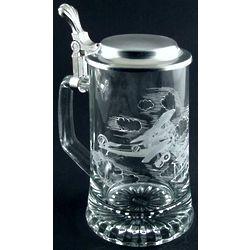 Engraved Aviator Glass Stein