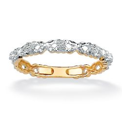 Diamond Accent Yellow Gold Stackable Promise Ring