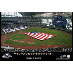 Personalized 12x18 Milwaukee Brewer Stadium Canvas
