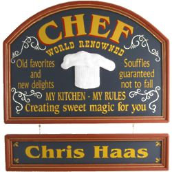 Chef's Personalized Pub Sign