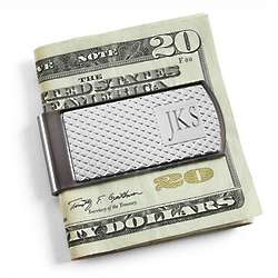 Classic Pattern Two-Tone Money Clip