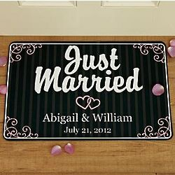 Personalized Just Married Doormat