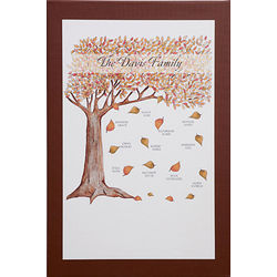 personalized fall family tree 24x36 canvas wall art. Black Bedroom Furniture Sets. Home Design Ideas