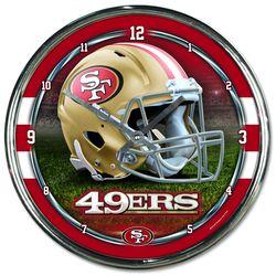 San Francisco 49ers Chrome Plated Clock