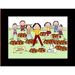 Personalized Cheerleading Coach Cartoon